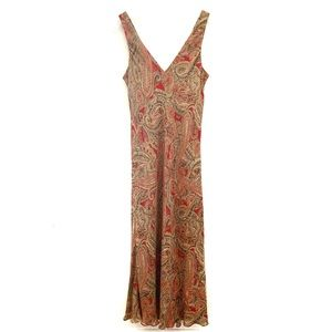 Jones New York Signature 100% silk maxi dress, 12